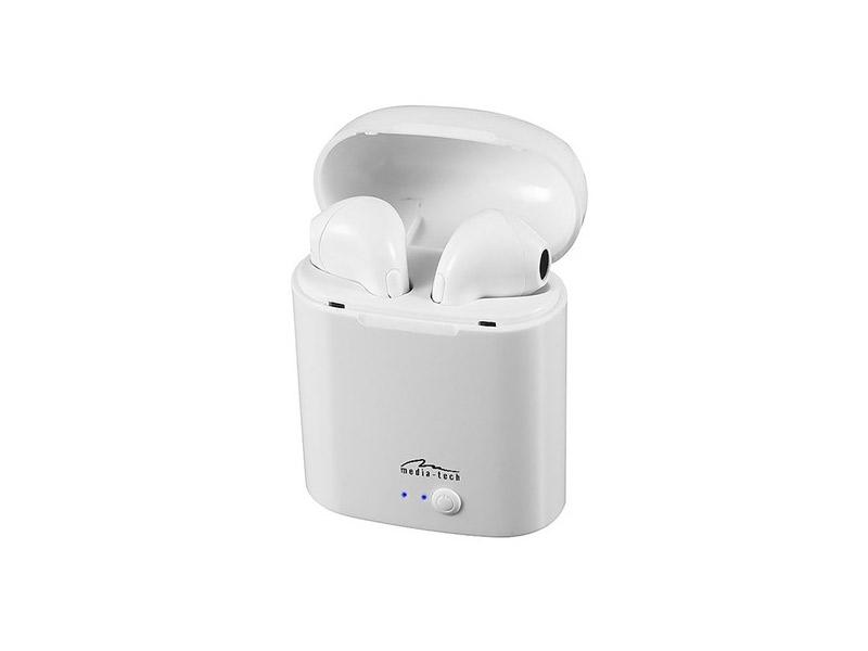 Media-Tech MT3589W Bluetooth slušalice s mikrofonom bijele