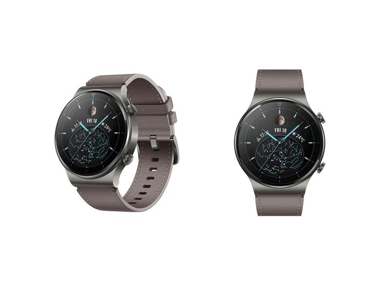 Huawei Watch GT2 Pro Nebula Grey pametni  sat sa sivo-smeđim kožnim remenom