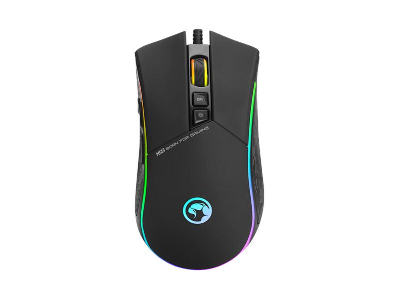 Marvo Scorpion M513 RGB crni miš 4800dpi
