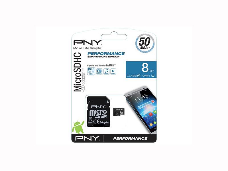 SD micro memorijska kartica  8GB PNY class 10 sa adapterom
