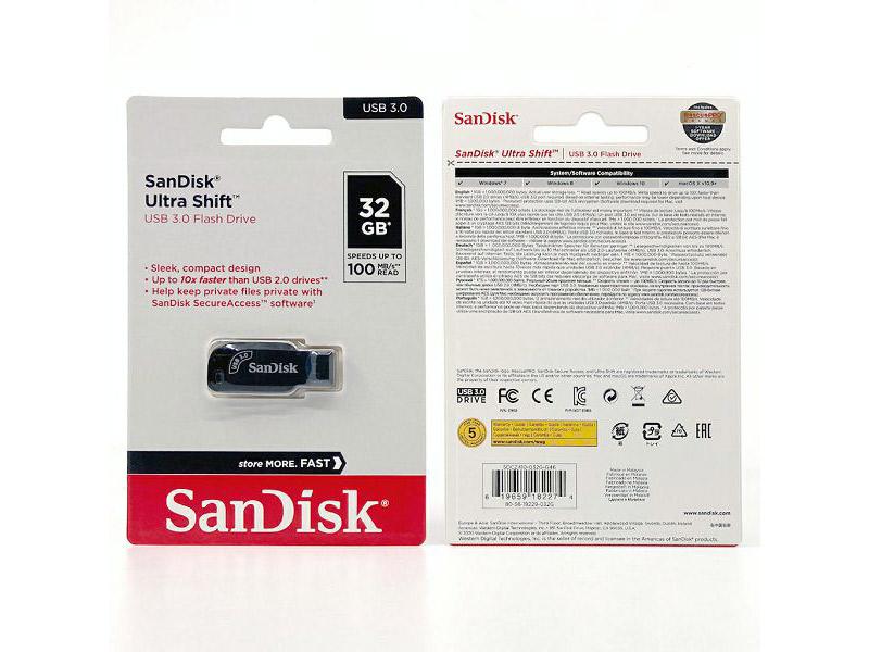 SanDisk USB 3.0 Flash Drive 32GB Ultra Shift