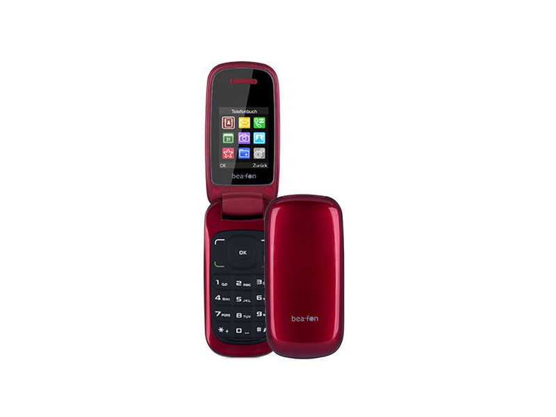 Beafon C200 Flip DualSim mobitel crveni 1.8