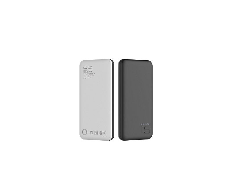 Puridea S3 Power Bank 15000mAh crni